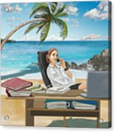 Illustration Of Business Trip Acrylic Print