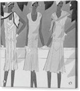 Illustration Of Three Women Acrylic Print