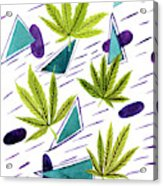 Illustrations Of The Cannabis Leaf Acrylic Print