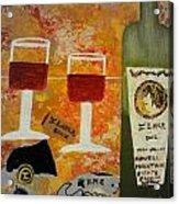 Ilona Wine Acrylic Print by Dori Meyers