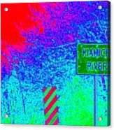 Imaginary River Crossing Acrylic Print