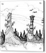 Imagination 1993 - Eagles Over Desert Rocks Acrylic Print