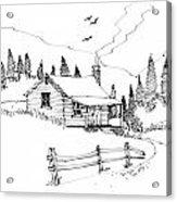 Imagination 1993 - Mountain Cabin Acrylic Print
