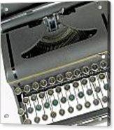 Imagination Typewriter Acrylic Print