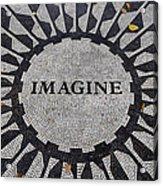 Imagine A World Of Peace Acrylic Print