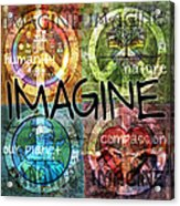 Imagine Acrylic Print by Evie Cook