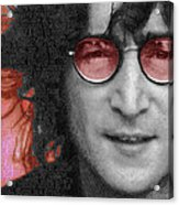 Imagine John Lennon Again Acrylic Print by Tony Rubino