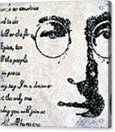 Imagine-john Lennon Acrylic Print
