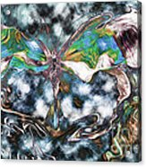 Imagine Number 2 Butterfly Art Acrylic Print