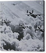 Imagine The Brave Men In These Bombers On A World War II Mission Acrylic Print