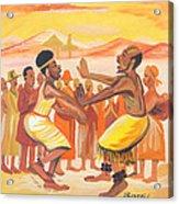 Imbiyino Dance From Rwanda Acrylic Print