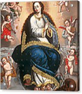 Immaculate Virgin Victorious Over The Serpent Of Heresy Acrylic Print