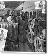 Immigrant Coach Car, 1881 Acrylic Print