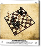 Immortal Chess - Byrne Vs Fischer 1956 - Moves Acrylic Print