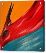 Impala in red Acrylic Print