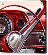 Red Belair With Dice Acrylic Print