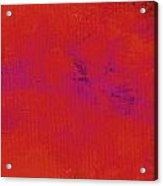 Impassive Scarlet Acrylic Print