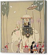 Imperial Procession Acrylic Print by Georges Barbier