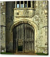 Imposing Front Door Of Titchfield Abbey Acrylic Print