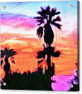 Impression Desert Sunset V2 Acrylic Print