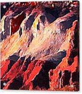 Impression Of Capitol Reef Utah At Sunset Acrylic Print