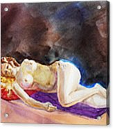 Impressionism Of Reclining Nude Acrylic Print