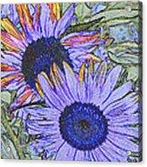 Impressionism Sunflowers Acrylic Print