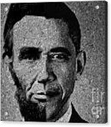 Impressionist Interpretation Of Lincoln Becoming Obama Acrylic Print by Doc Braham