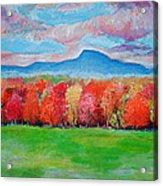 Impressionist New Jersey Autumn Acrylic Print