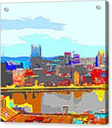 Impressionist Pittsburgh Across The River 2 Acrylic Print