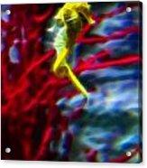 Impressionist Sea Horse Acrylic Print