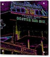 Impressionistic Fenway Park Acrylic Print by Gary Cain