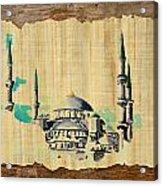 Impressionistic Masjid E Nabwi Acrylic Print by Catf