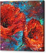 Impressionistic Red Poppies Acrylic Print