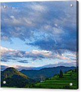 Impressions Of Mountains And Magical Clouds Acrylic Print
