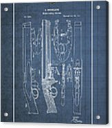 Improvement To Muzzle-loading Fire-arm - Vintage Patent Blueprint Acrylic Print