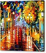Improvisation Of Lights - Palette Knife Oil Painting On Canvas By Leonid Afremov Acrylic Print