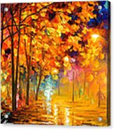 Improvisation Of Trees - Palette Knife Oil Painting On Canvas By Leonid Afremov Acrylic Print