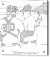 In A Baseball Game Acrylic Print