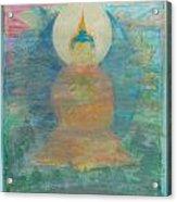 In A Fog Buddha Acrylic Print