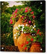 In A Portuguese Garden - Digital Oil Acrylic Print