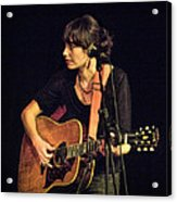 In Concert With Folk Singer Pieta Brown Acrylic Print