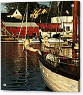 In Harbor Acrylic Print by Karol Livote