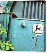 In John Deere Greene Acrylic Print by JC Findley