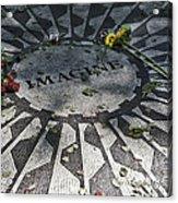 In Memory Of John Lennon - Imagine Acrylic Print