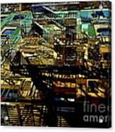 In Perspective - Fire Escapes - Old Buildings Of New York City Acrylic Print