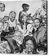 In Praise Of Jazz V Acrylic Print