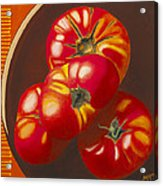 In Search Of The Perfect Tomato Acrylic Print