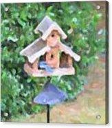 In The Birdhouse - Oil Acrylic Print
