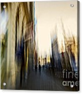 In The Canyons Of The City Acrylic Print